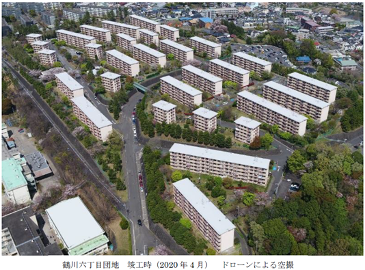 鶴川六丁目団地の再生プロジェクト 空撮